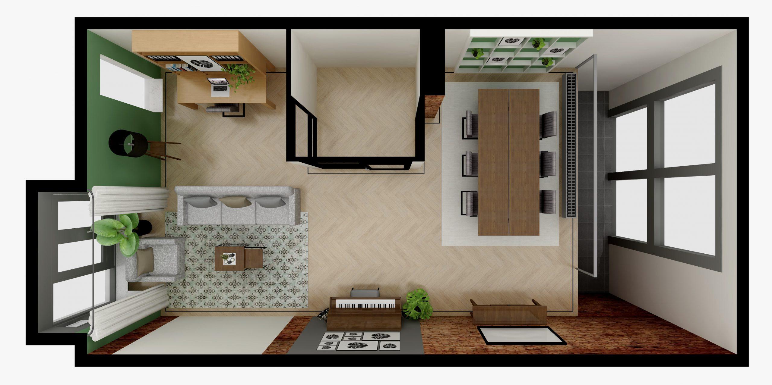 3D plattegrond Dordrecht portfolio